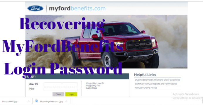 Ford Paystub Change Password