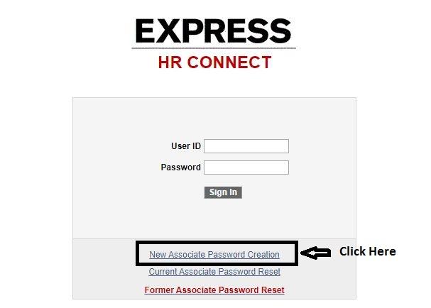 HR Connect Express Employee Login forgot password step 1