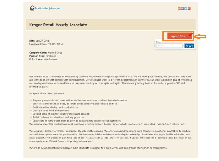 Kroger Job Application Online step 3