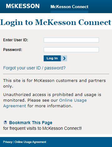McKesson Login