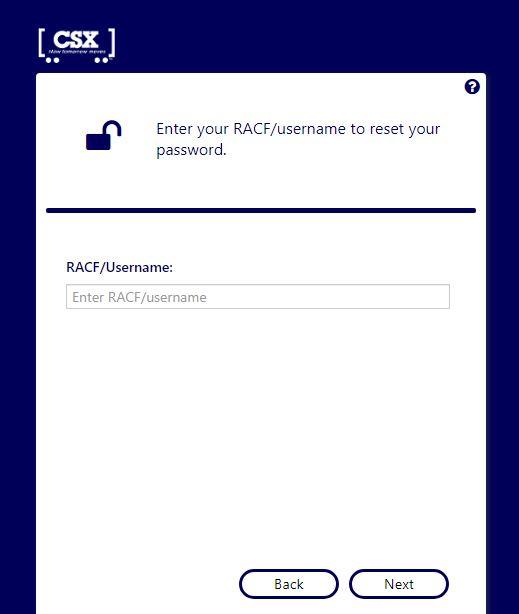 csx forgot password
