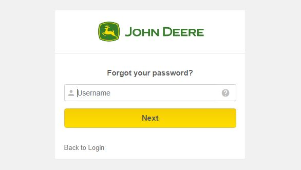 John Deere ess forgot password