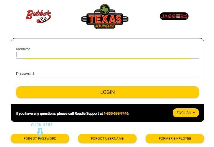 Texas Roadhouse Employee Login forgot password 1