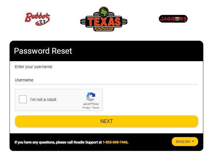 Texas Roadhouse Employee Login forgot password 2